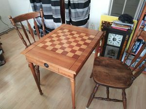 Antique chess table and 2 chairs for Sale in Bell, CA