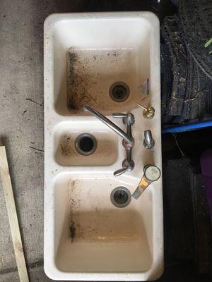 Almond Kohler cast iron kitchen sink for Sale in Marengo, OH