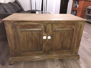 Solid wood cabinet used as TV stand for Sale in Stuart, FL