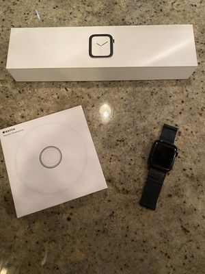 Perfect Condition Stainless Steel 44 mm Apple Watch Series 4 GPS + Cellular and Docking Charger for Sale in Chicago, IL
