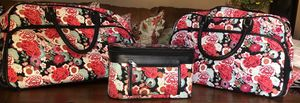 World Traveler Luggage set - Flower Duffle bag, rolling duffle bag, and matching cosmetic bag for Sale in La Verne, CA