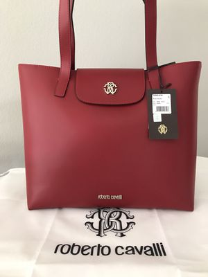 NEW Roberto Cavalli Leather Tote Bag - Authentic! for Sale in San Diego, CA