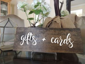 """Gifts and cards wedding Sign measurement: 3.5"""" x 11"""" x .75"""" for Sale in Costa Mesa, CA"""
