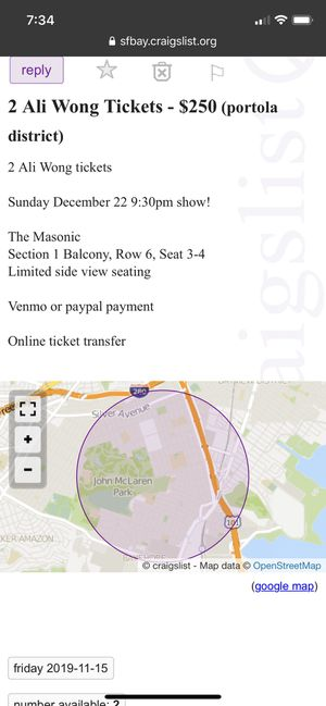 2 Ali Wong tickets for Sale in Daly City, CA