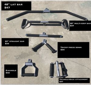 Gym ATTACHMENTS cable attachments NEW for Sale in Los Alamitos, CA