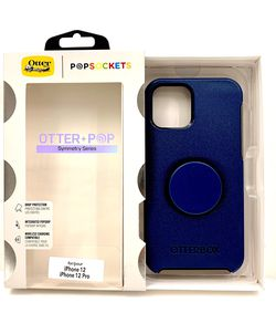 Navy Blue 12 / 12 Pro / 12 Pro Max - iPhone OtterPop Case Cover. Symmetry Series. for Sale in Norco,  CA