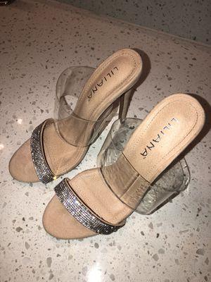 Nude/ clear heels size 8 for Sale in Atlanta, GA
