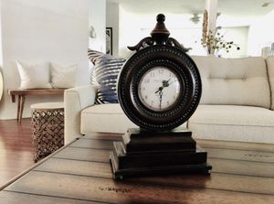 Farmhouse Antique Bronze Metal Standing Clock for Sale in Coral Springs, FL
