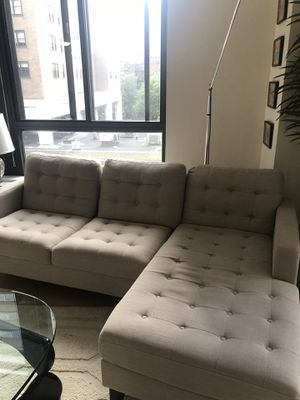 Pier 1 Couch - Putty 2-Piece Right-Arm Chaise Sectional for Sale in New York, NY