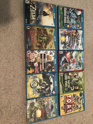 Various Wii U games - all like new and scratch-free priced individually for Sale in Virginia Beach, VA