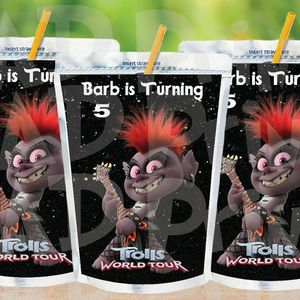 Printable Personalized Queen Barb Capri Sun Labels, Trolls Birthday for Sale in Oakland Park, FL