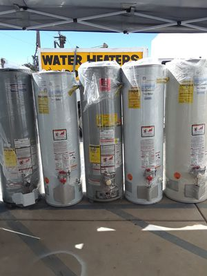 Especial today water heater for 200 1 year warranty for Sale in Ontario, CA