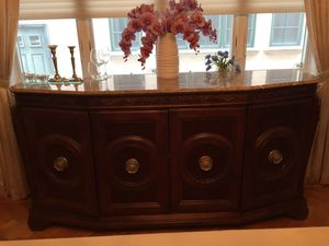 Wood server with marble top for Sale in Brooklyn, NY