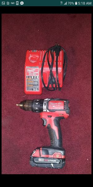 Half inch 13 mm hammer drill / driver brushless by Milwaukee comes with battery and charger $80 cash for Sale in Buena Park, CA