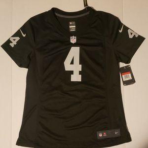 Derek Carr Las Vegas / Oakland Raiders Women's Large Authentic Nike NFL Jersey New for Sale in Orangevale, CA