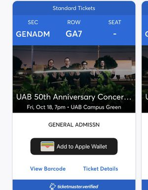 UAB 50th Anniversary with Weezer for Sale in Birmingham, AL