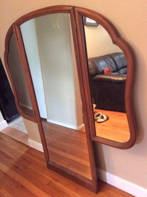 Nice oak frame mirror for Sale in St. Louis, MO