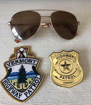 Super Troopers 2 Collectible Badge, Patch, and Sunglasses for Sale in Columbia, SC