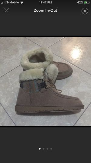 Rampage Faux Fur Ankle Boots Size 9 for Sale in Tampa, FL