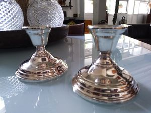 Two 2 Sterling Silver Candle Holders for Sale in San Diego, CA
