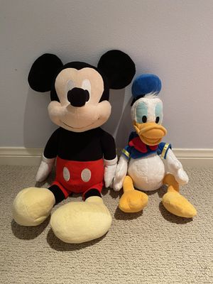 Mickey Mouse and Donald Duck stuffed animal for Sale in Irvine, CA