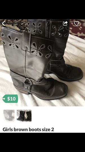 Girls boots size 2 for Sale in Stroudsburg, PA