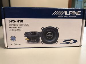 Alpine car audio speakers for Sale in Raleigh, NC
