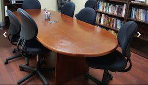 Conference table with 6 chairs for Sale in Miami, FL