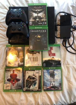 Xbox One Console and Controller + 8 Game Bundle- Black Fully Functional for Sale in Santa Barbara, CA
