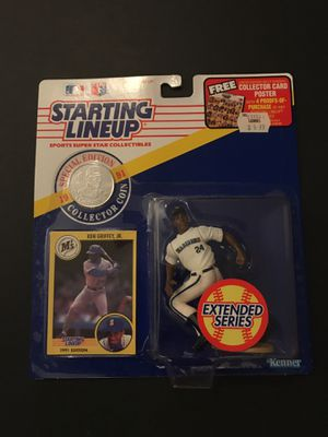 1991 Ken Griffey Jr. Starting Line Up w/ baseball card and coin for Sale in Franconia, VA