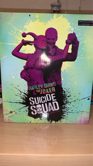 """Harley Quinn and The Joker deluxe iron studios art scale 1/10 suicide squad 7"""" statue for Sale in Miami, FL"""