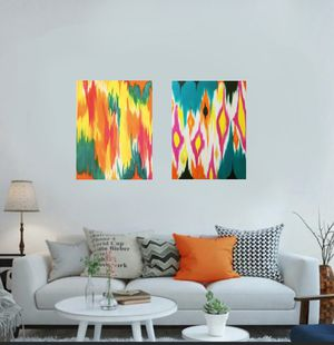 """ABSTRACT ART acrylic canvas paint. 16"""" x 24"""" made by me for Sale in Brooklyn, NY"""