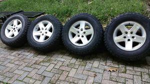Jeep wheels with BF Goodrich M/T Mud Terrain LT 255 / 75 R 17 for Sale in Franklin, TN