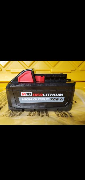 Milwaukee M18 REDLITHIUM High output XC8.0 Battery for Sale in San Diego, CA