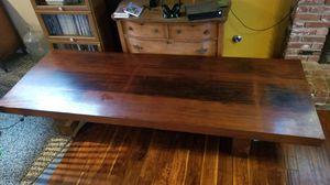 8 foot x 3 foot Redwood Coffee Table for Sale in Visalia, CA