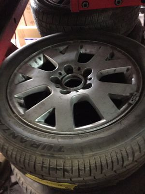 """Bmw 3 series 16"""" rim and 225-50-r 16 tire never used $220obo for Sale in Dallas, TX"""
