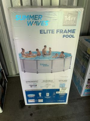 Summer Waves 14 x 42 Swimming Pool Filter Pump Ladder Cover Included In Hand Immediate Pickup for Sale in Cherry Hill, NJ
