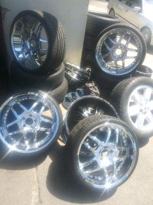 22 inch chrome rims for Sale in Washington, DC
