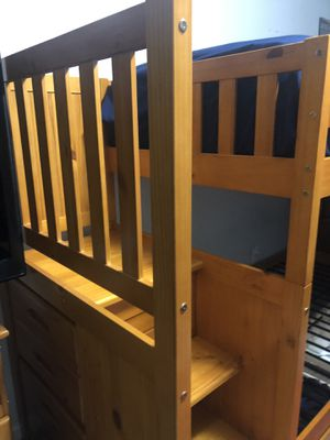 twin bunk bed with 2 memory foam matress for Sale in Galloway, OH