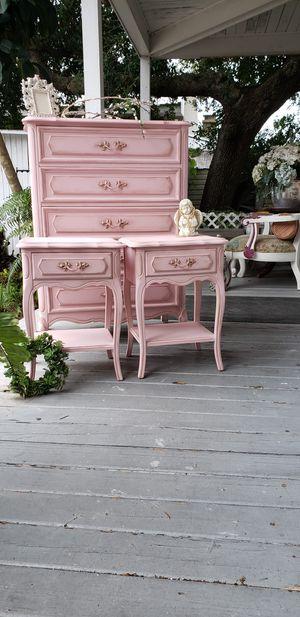Peony Pink Dresser & Nightstands 💗 priced separately for Sale in Merritt Island, FL