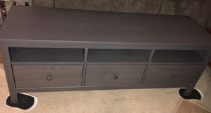 $125 - three drawer low cabinet, TV stand, gray dark gray stained IKEA - HEMNES - $125 obo for Sale in San Diego, CA