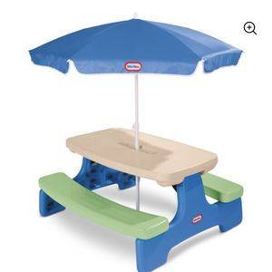 Little Tikes Easy Store Kids Picnic Table with Umbrella for Sale in Philadelphia, PA