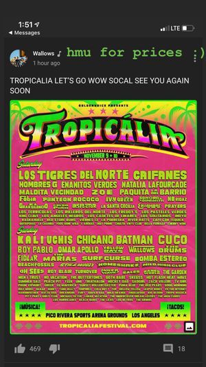 Two Tropicalia Sat VIP tickets for Sale in Bloomington, CA