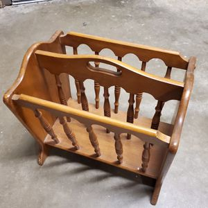 TWO (2) WOOD MAGAZINE RACKS - 2 Different Sizes - price for both together; can also buy separately - firm prices for Sale in Arlington, VA