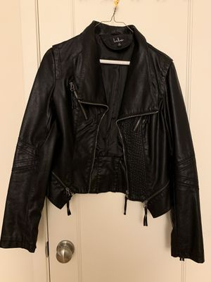 Women's black vegan leather jacket size S by Lulu's for Sale in Washington, DC