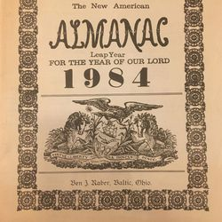 Raber's Book Store (Baltic, Ohio) The New American Almanac 1984 Old Order Amish Almanac, printed in Gordonville, PA for Sale in Columbus,  OH