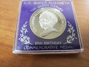 Queen Mother 85th Birthday Commemorative Medallion for Sale in Ithaca, NY