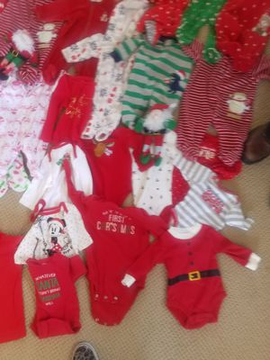 Baby Christmas sleepers $3 , onesies and shirts $1 Ellensburg for Sale in Ellensburg, WA