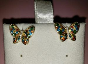 1ct Colored Diamond Earrings, 14kt for Sale in Keizer, OR