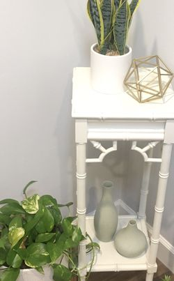 """(1) Thomasville """"Allegro"""" Bamboo Accent Table Sofa End Side Display Shelves Plant Lamp Stand Storage Decor Nightstand Bedside Entryway Stand! for Sale in Phoenix,  AZ"""